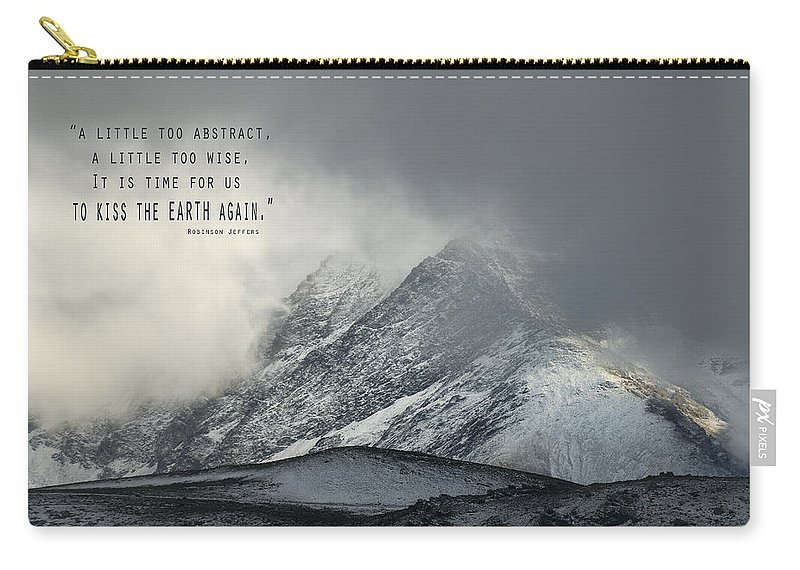 Typography Carry-all Pouch featuring the photograph Kiss The Earth Again by Guido Montanes Castillo