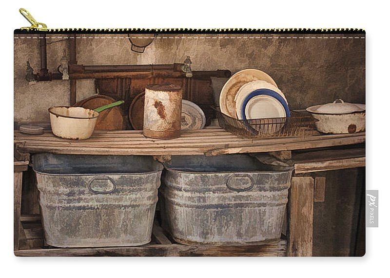 Kitchen Carry-all Pouch featuring the photograph Kitchen Duty by Priscilla Burgers