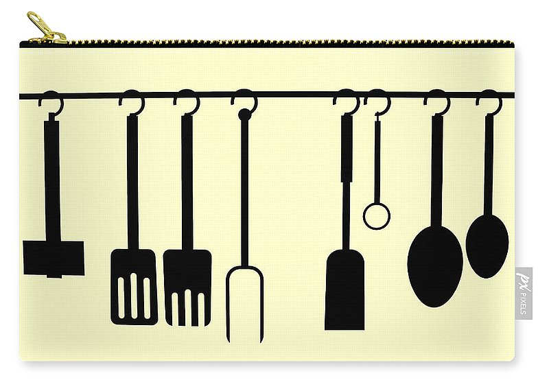 Abstract Carry-all Pouch featuring the photograph Kitchen Utensils by Semmick Photo
