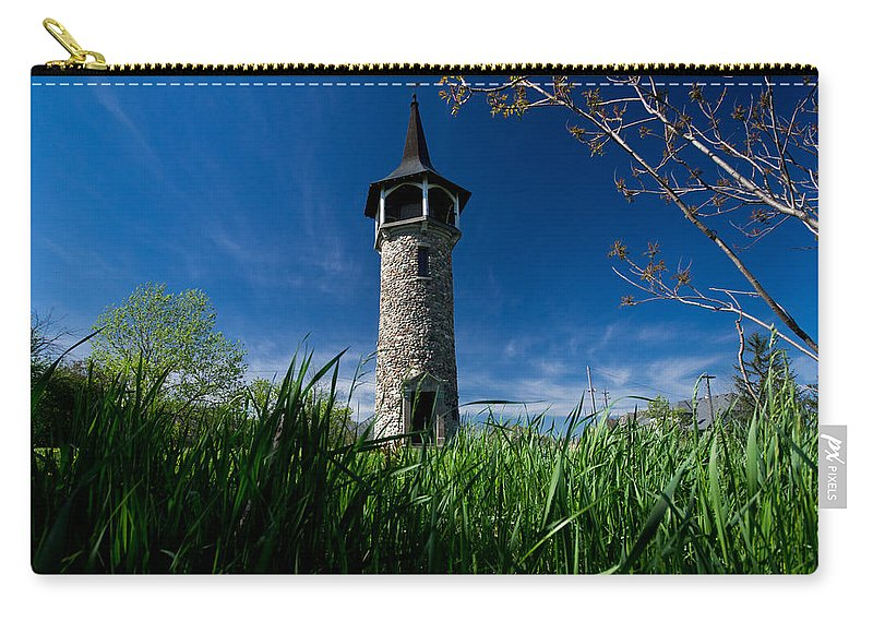 Pioneer Tower Carry-all Pouch featuring the photograph Kitchener's Pioneer Tower by Cale Best
