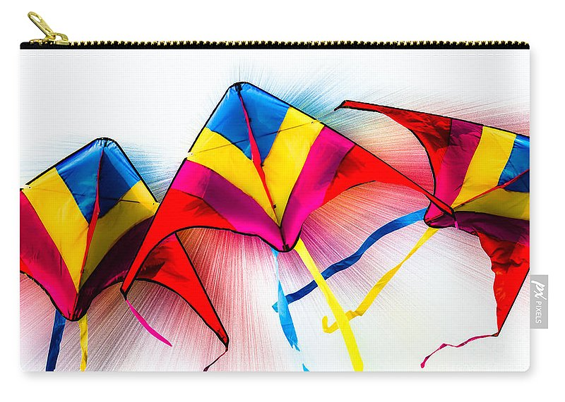 Kites Carry-all Pouch featuring the photograph Kites by Michael Arend