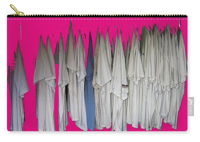 Klan Costumes Casa Grande Arizona 2005 Color Added Carry-all Pouch featuring the photograph Klan Costumes Casa Grande Arizona 2005-2012 by David Lee Guss