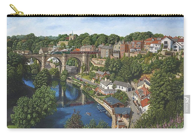 Landscape Carry-all Pouch featuring the painting Knaresborough Yorkshire by Richard Harpum