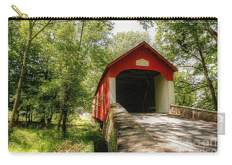 bucks County Carry-all Pouch featuring the photograph Knecht's Covered Bridge by Traci Law