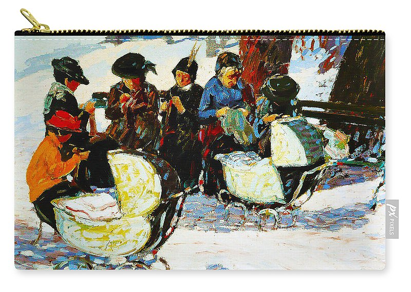 George Benjamin Luks Carry-all Pouch featuring the photograph Knitware Soldiers by George Benjamin Luks