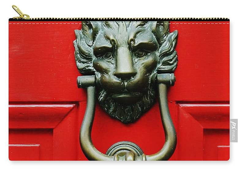 Knocker Carry-all Pouch featuring the photograph Knock Knock by Paul Wilford