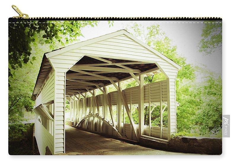 Knox Bridge Carry-all Pouch featuring the photograph Knox Bridge by Michael Porchik