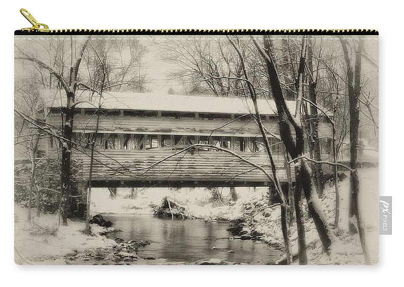 Knox Carry-all Pouch featuring the photograph Knox Valley Forge Covered Bridge by Bill Cannon