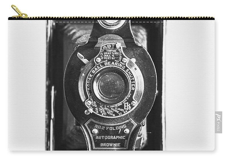 Kodak Carry-all Pouch featuring the photograph Kodak No. 2 Folding Autographic Brownie Camera by Jon Woodhams
