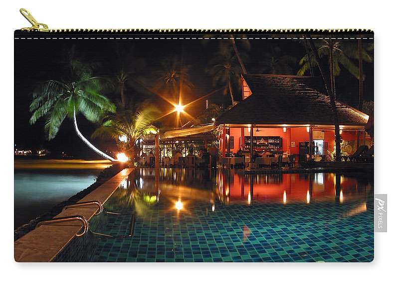 3scape Carry-all Pouch featuring the photograph Koh Samui Beach Resort by Adam Romanowicz