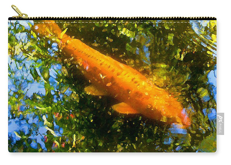Animal Carry-all Pouch featuring the painting Koi Fish 1 by Amy Vangsgard