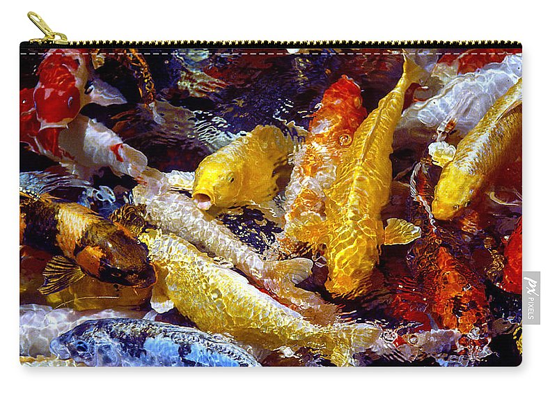 Koi Carry-all Pouch featuring the photograph Koi Pond by Marie Hicks