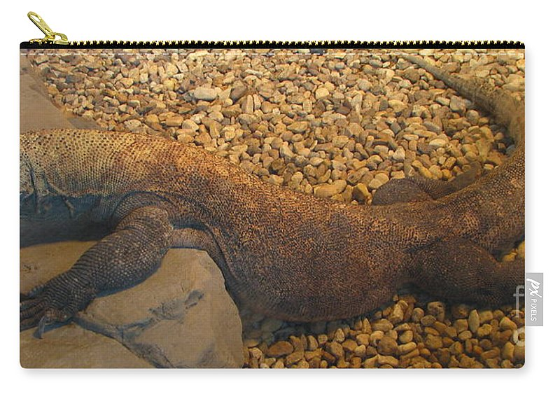 Art For The Wall...patzer Photography Carry-all Pouch featuring the photograph Komodo by Greg Patzer