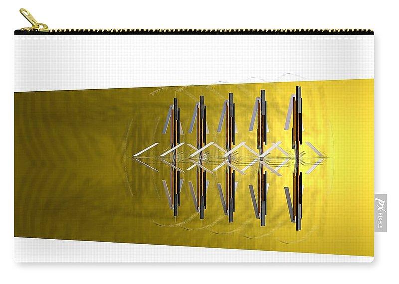 Abstract Digital Artwork Carry-all Pouch featuring the digital art Kompozicija Multiplication by Nenad Paunovic