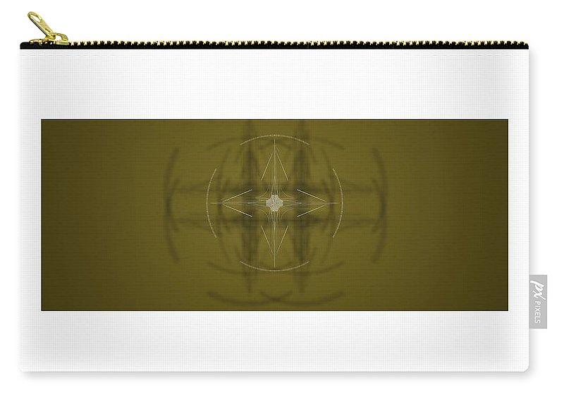 Abstract Digital Artwork Carry-all Pouch featuring the digital art Kompozicija Viewer by Nenad Paunovic