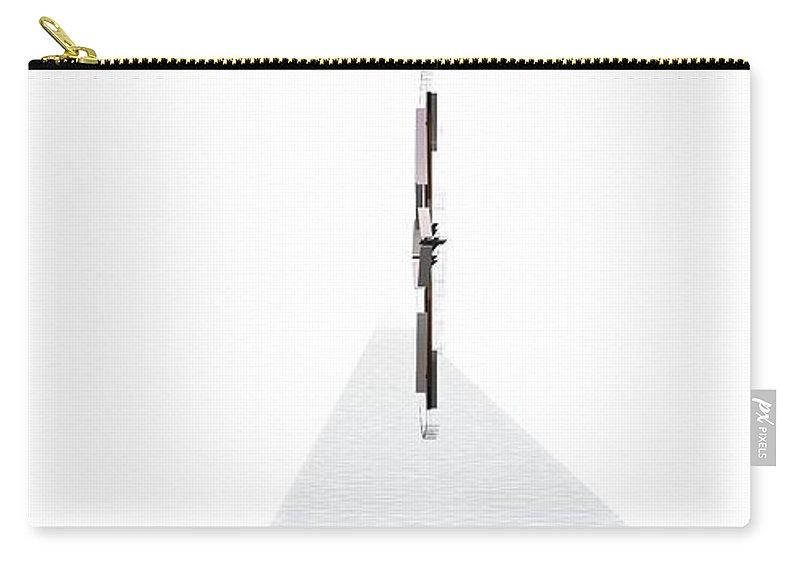 Abstract Digital Artwork Carry-all Pouch featuring the digital art Kompozicija Water by Nenad Paunovic