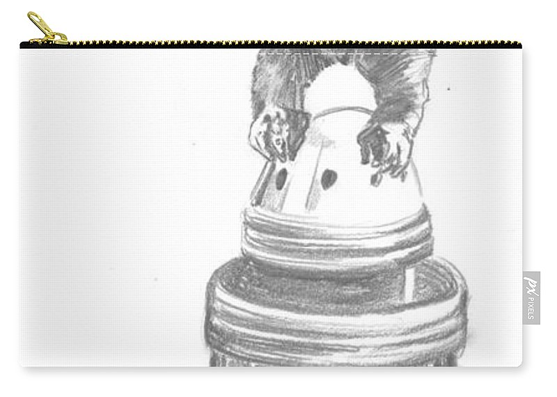 King Kong Carry-all Pouch featuring the drawing Kong The Eighth Wonder by Bryan Bustard