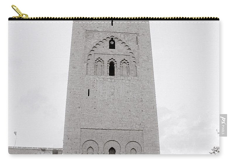 Architecture Carry-all Pouch featuring the photograph Koutoubia Mosque by Shaun Higson