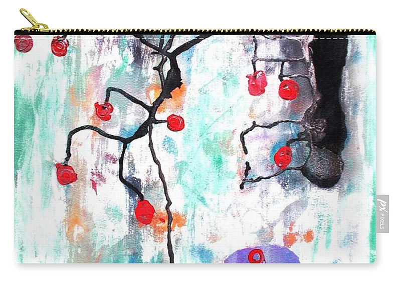 Original Carry-all Pouch featuring the painting Kyoto Spring by Roberto Prusso