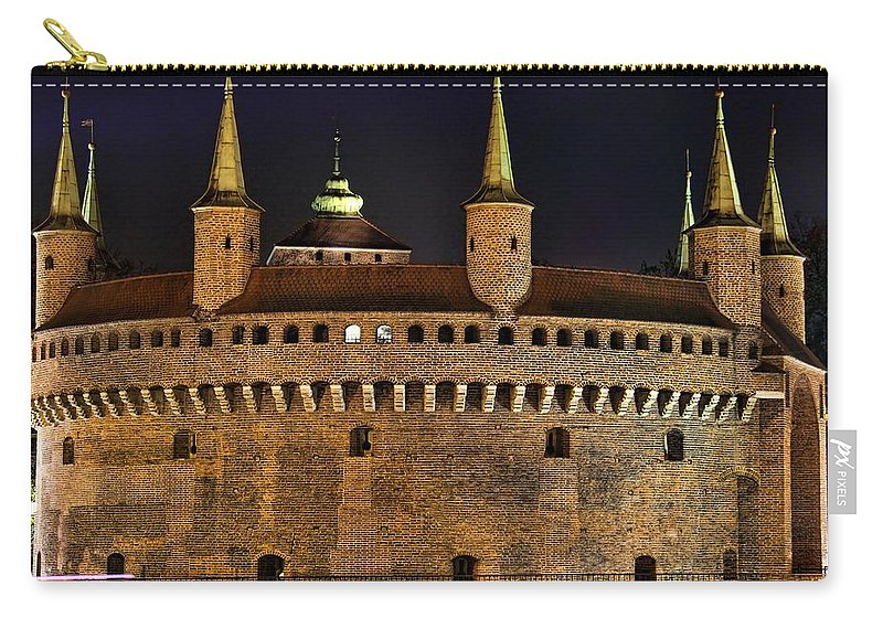 Krakow Barbican Carry-all Pouch featuring the photograph Krakow Barbican by Mariola Bitner