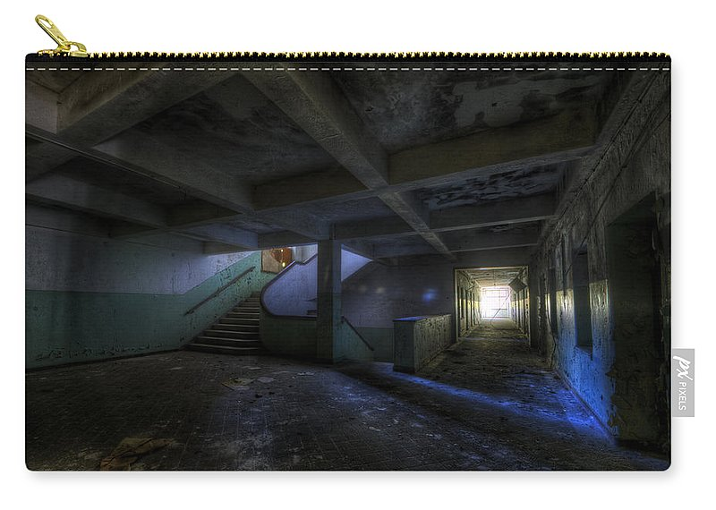Krampnitz Carry-all Pouch featuring the digital art Krampnitz Barracks by Nathan Wright