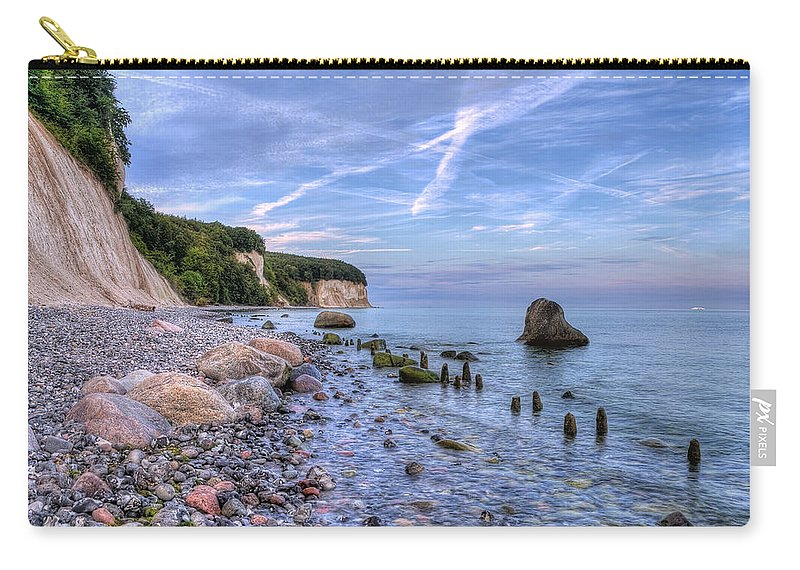 Ostsee Carry-all Pouch featuring the pyrography Kreidefelsen by Steffen Gierok