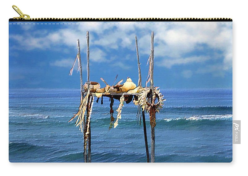 Hawaii Carry-all Pouch featuring the photograph Ku Emanu Heiau Kona by Kurt Van Wagner