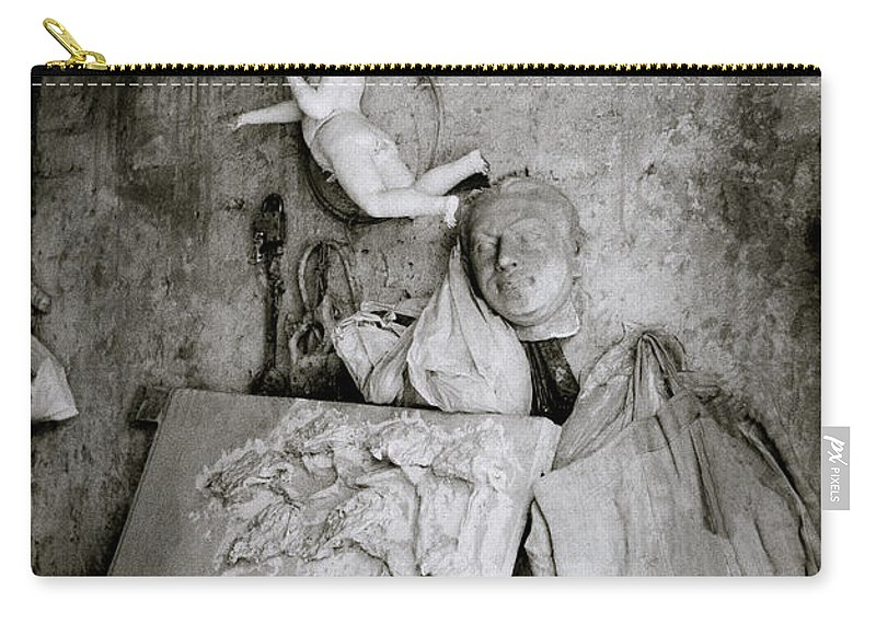 Angel Carry-all Pouch featuring the photograph Kumartuli Angel by Shaun Higson
