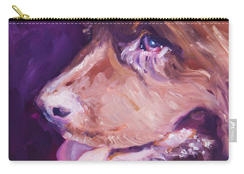 Dog Carry-all Pouch featuring the painting L-o-l-a Lola by Sheila Wedegis