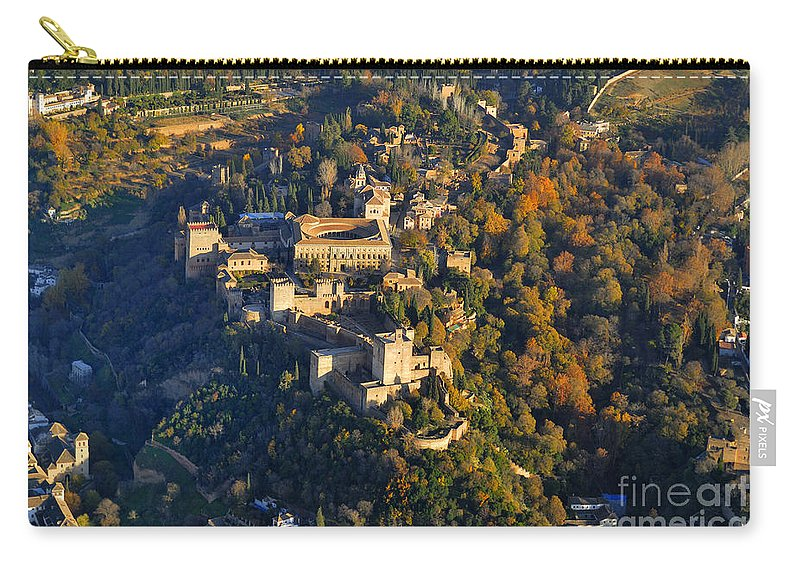 The Alhambra Carry-all Pouch featuring the photograph La Alhambra by Guido Montanes Castillo