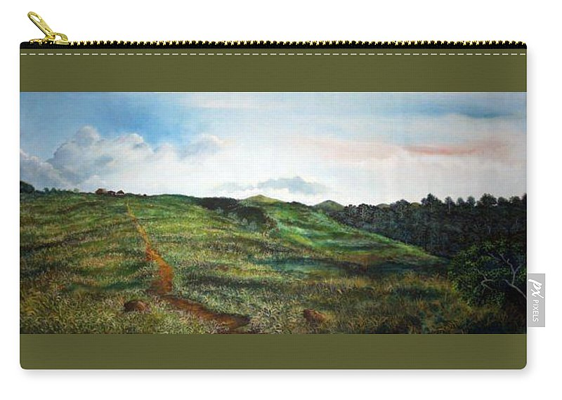 Landscape Carry-all Pouch featuring the painting La Bonga by Ricardo Sanchez Beitia