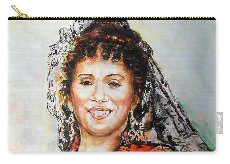 Carmen Carry-all Pouch featuring the painting La Carmencita by Lucia Hoogervorst