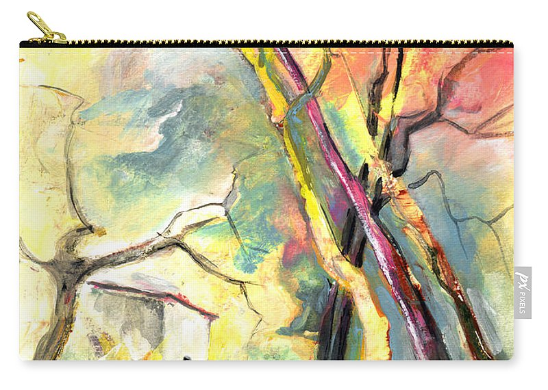 Landscapes Carry-all Pouch featuring the painting La Casita 03 by Miki De Goodaboom