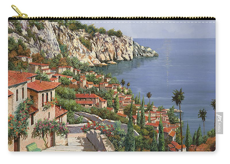 Seascape Carry-all Pouch featuring the painting La Costa by Guido Borelli