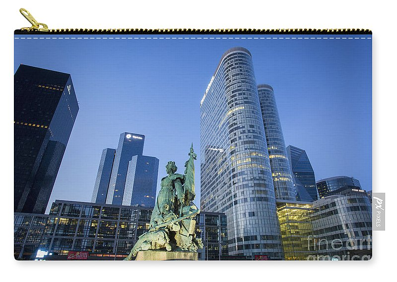 Architectural Carry-all Pouch featuring the photograph La Defense Memorial by Brian Jannsen