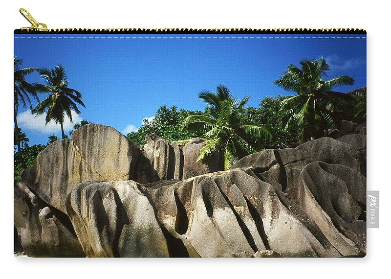 Ocean Carry-all Pouch featuring the photograph La Digue Island - Seychelles by Juergen Weiss