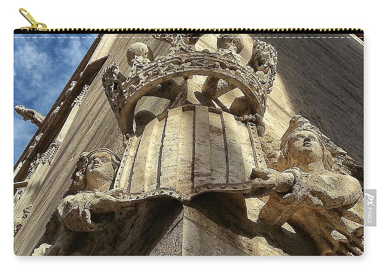 Unesco Carry-all Pouch featuring the photograph La Lonja Angels by For Ninety One Days