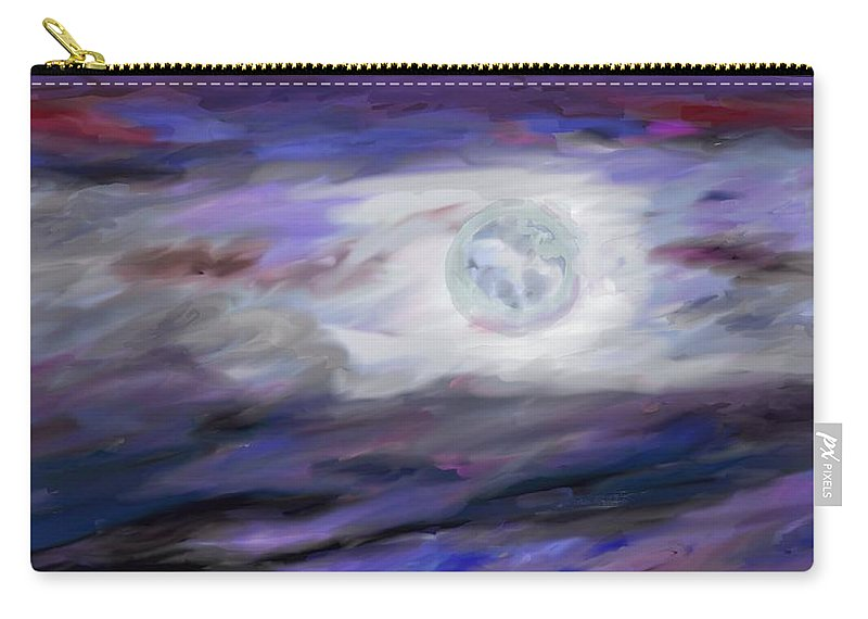 Night Carry-all Pouch featuring the painting La Luna by Jeanne Fischer