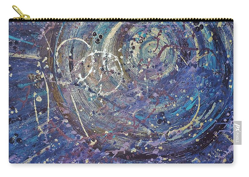 Abstract Carry-all Pouch featuring the painting La Luna by Margaret Bobb