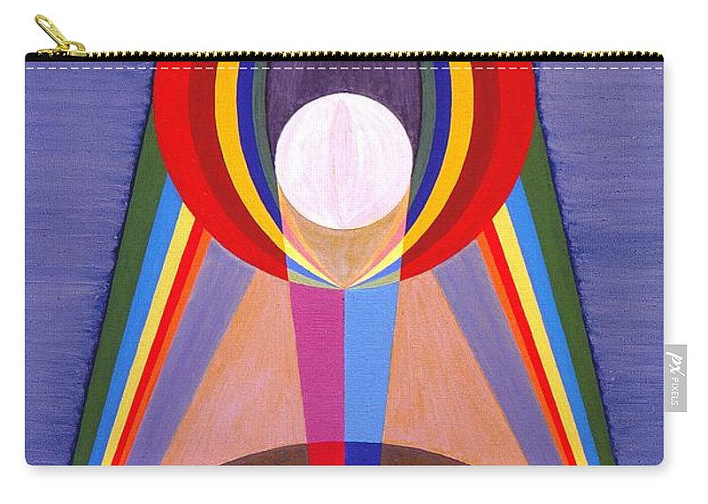 Painting Carry-all Pouch featuring the painting La Lune - The Moon by Michael Bellon