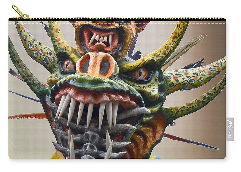 Mask Carry-all Pouch featuring the photograph La Mascarada by Heiko Koehrer-Wagner