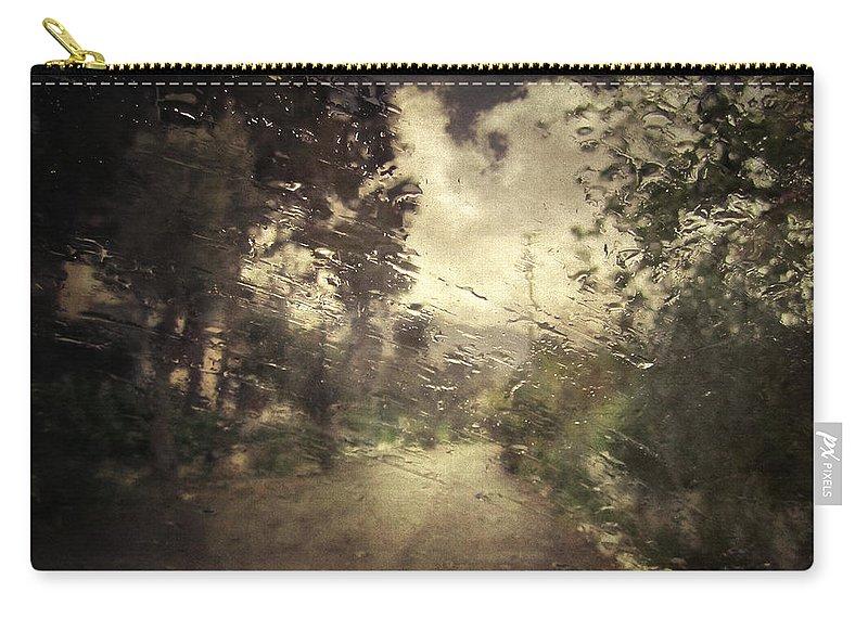 Rain Carry-all Pouch featuring the photograph La Pluie 4.45 by Zapista