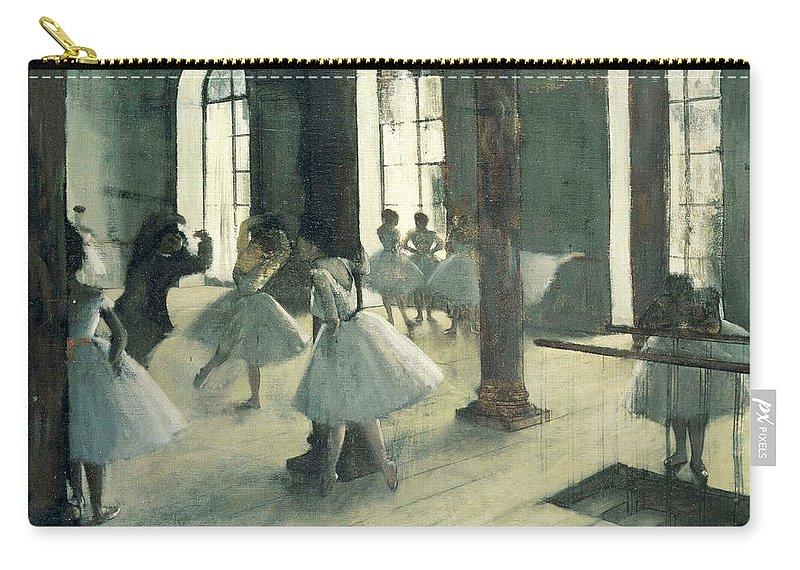 Edgar Degas Carry-all Pouch featuring the painting La Repetition Au Foyer De La Danse by Edgar Degas
