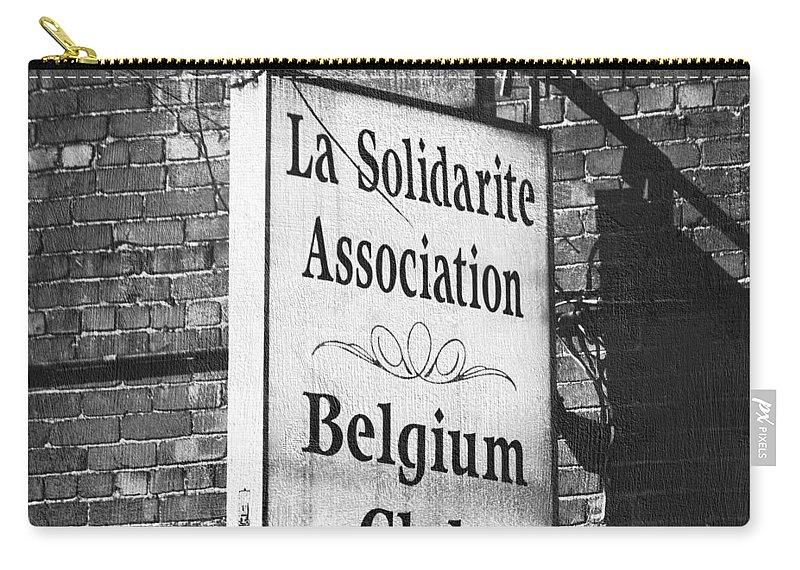 La Solidarite Association Belgium Club Carry-all Pouch featuring the photograph La Solidarite Association Belgium Club by Teresa Mucha