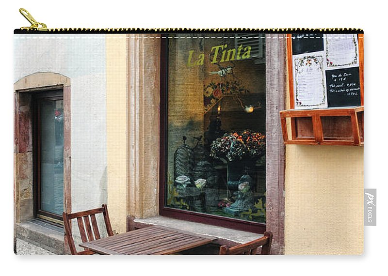 Cafe Carry-all Pouch featuring the photograph La Tinta Cafe by Dave Mills