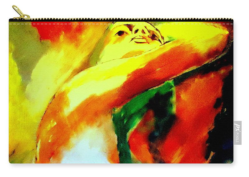 Nude Figures Carry-all Pouch featuring the painting La Vie by Helena Wierzbicki