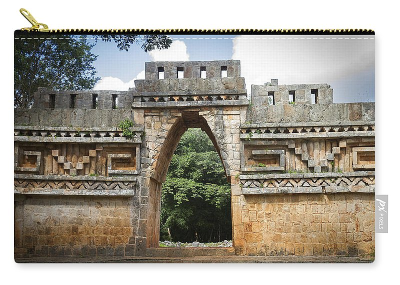 Labná Carry-all Pouch featuring the photograph Labna Maya Arch by For Ninety One Days