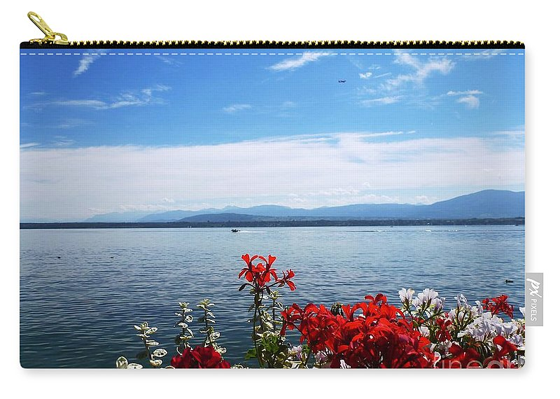 Lake Carry-all Pouch featuring the photograph Lac Leman - Switzerland by Cristina Stefan