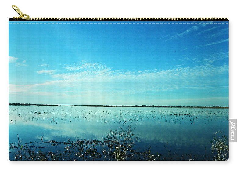 Refuge Carry-all Pouch featuring the photograph Lacassine Nwr Pool Blue And Green by Lizi Beard-Ward