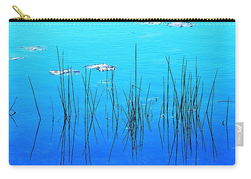 Water Carry-all Pouch featuring the digital art Lacassine Pool Reeds by Lizi Beard-Ward